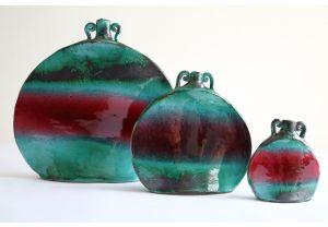 Bottiglia ornamentale in ceramica smaltata