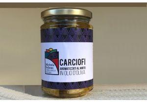 Carciofi aromatizzati al mirto in olio d'oliva 280 gr