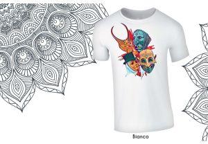 t-shirt le quattro maschere - makokko