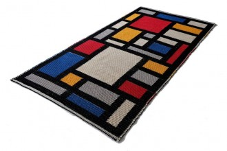 tappeto tribute to mondrian-artigintessile1