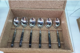 Horn Handled 6 Spoons Set